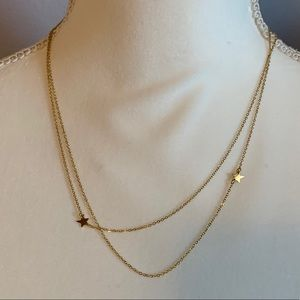 Beautiful Gold Tone Star Necklace